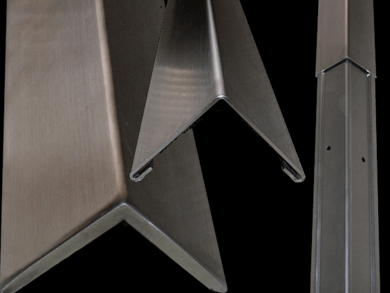 Stainless Steel - 2 Piece w/Alum Back Corner Guards