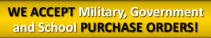 The Corner Guard Store Accepts Military, Government and School Purchase Orders