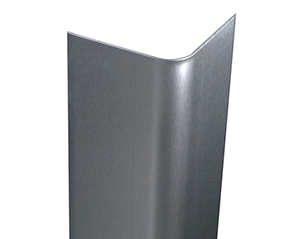 Stainless Steel Bullnose corner guards with a Brushed #4 Finish