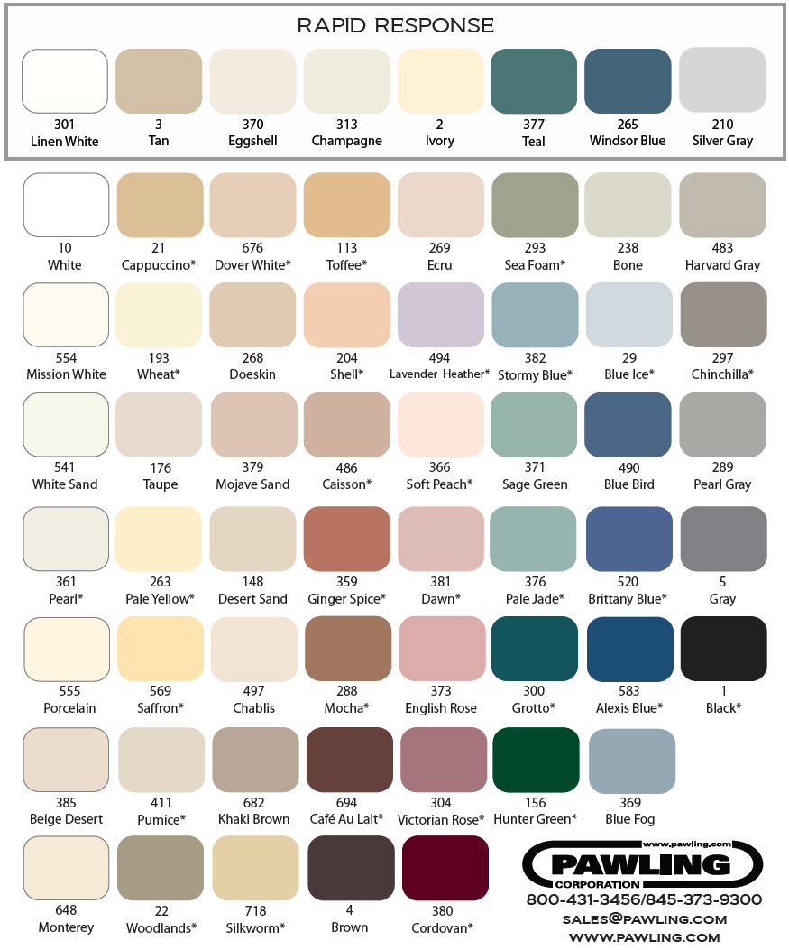 Pawling color chart nvjuhfo Gallery